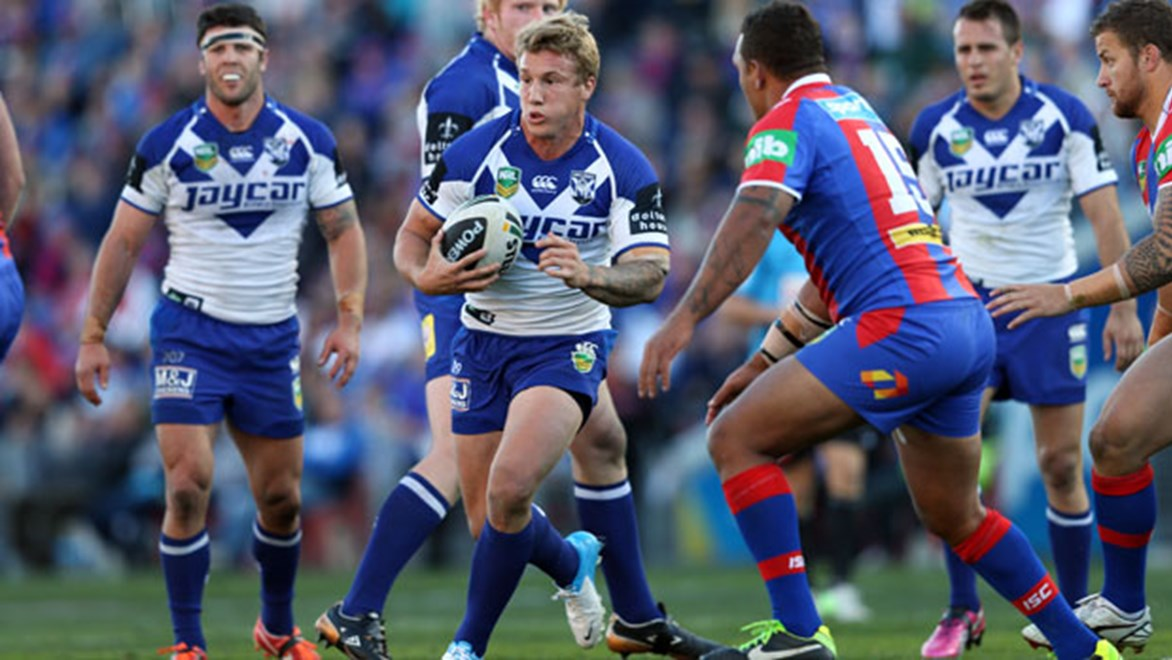 Canterbury halfback Trent Hodkinson is on cloud nine after kicking his second consecutive field goal to secure recent Bulldogs victories.