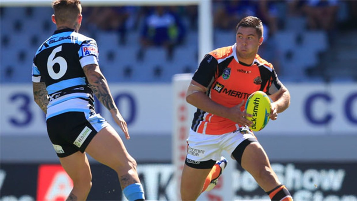 Wests Tiger Curtis Sironen was set for a big year before suffering a foot injury at the Auckland Nines.