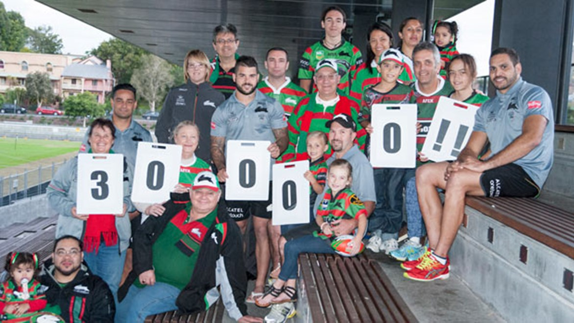 South Sydney are celebrating hitting the 30,000 membership mark, becoming the first NRL club in history to achieve the feat..