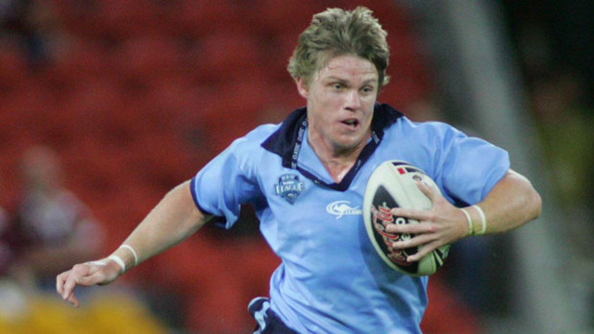 Gun centre Chris Lawrence played Under-19s Origin for NSW back in 2007 and seemed a sure thing to make the senior Blues side - but it just hasn't happened.