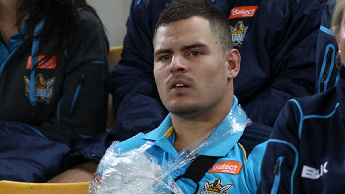 Titans five-eighth Aidan Sezer is facing a lengthy stint on the sidelines after injuring his pec against the Broncos on Friday night.