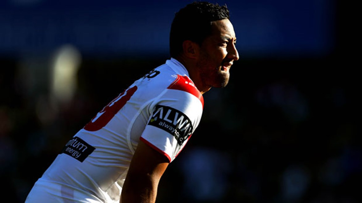 Dragons recruit Benji Marshall had a mixed afternoon in his first match back in the NRL, a Saturday defeat against the Eels.