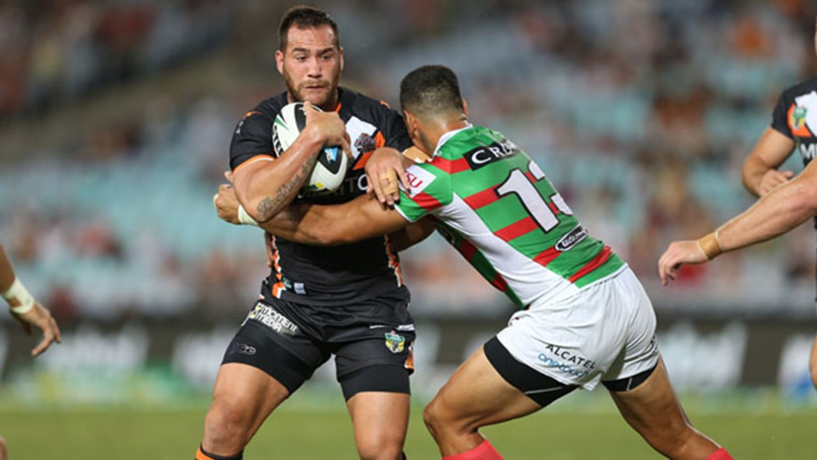Wests Tigers Bodene Thompson is happy with his consistency having played every game in the NRL this season for the Tigers so far.