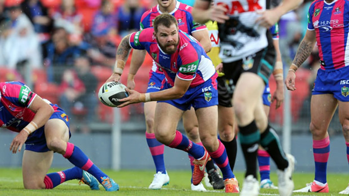 Newcastle utility Adam Cuthbertson just does what Wayne Bennett tells him to do after filling every position in the forwards this season for the Knights.