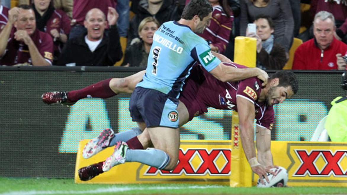 Greg Inglis bagged a double in Game Three, 2011 to equal Dale Shearer's Origin try record of 12.
