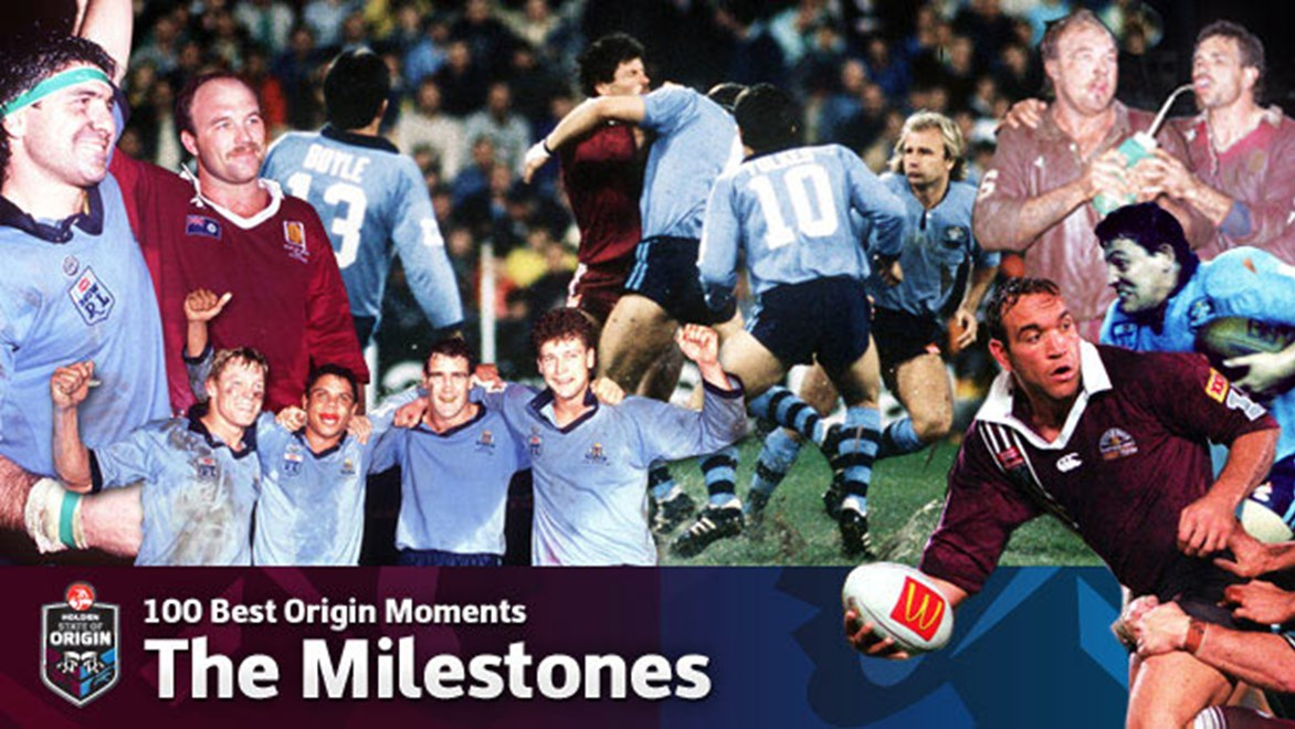 NRL.com celebrates the 100 greatest moments in State of Origin's 34-year history.