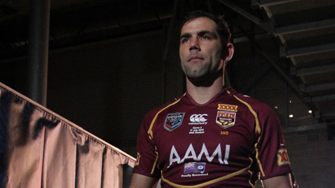 Cameron Smith will lead the Maroons out for the 10th time at Suncorp Stadium on Wednesday night.