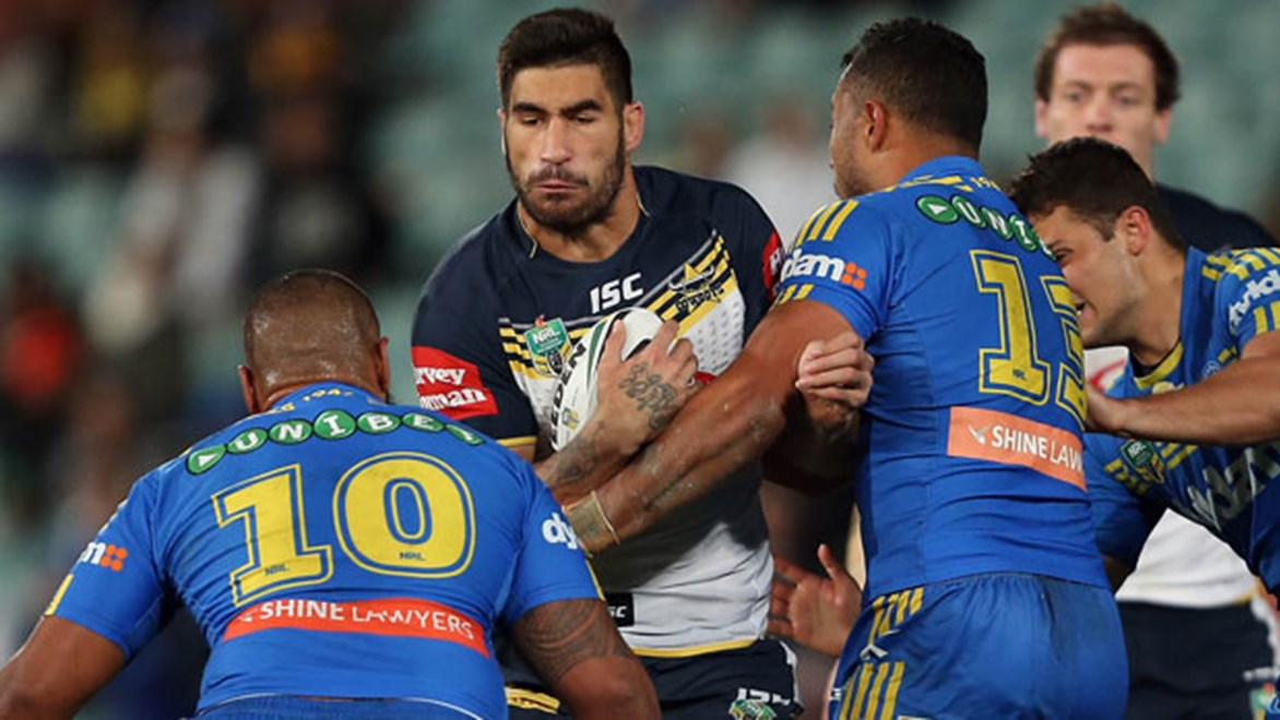North Queensland prop James Tamou was one of four players in the visiting team playing their third game in 10 days.