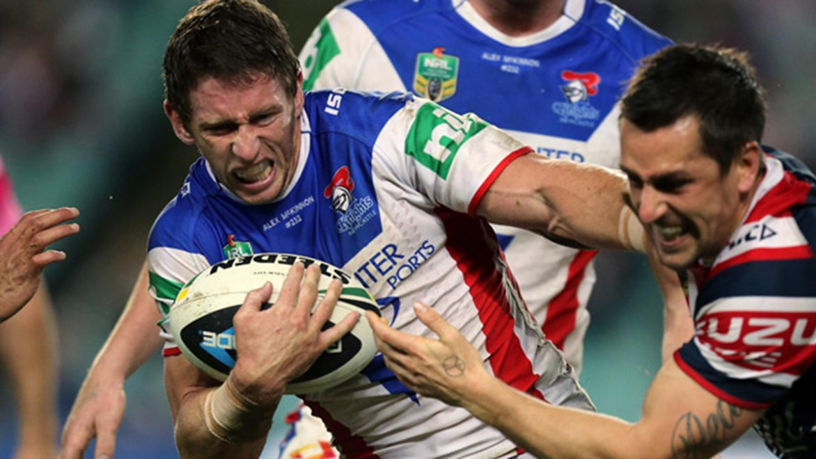Kurt Gidley returned to fullback in Round 14 as the Knights went down to the Roosters 29-12 at Allianz Stadium.