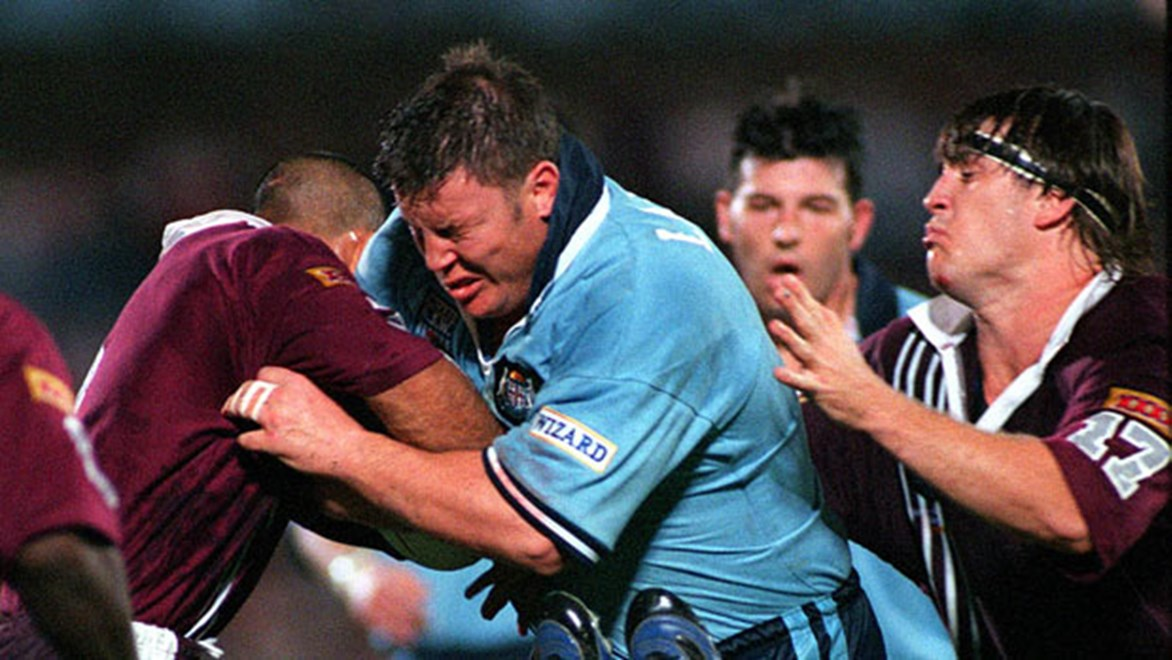 Glenn Lazarus - the 'Brick with eyes' - played 19 games for NSW between 1989 and 1999.