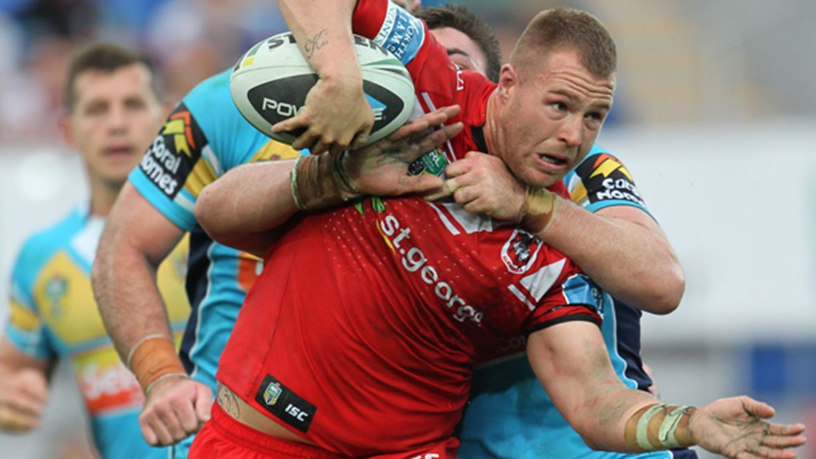 Trent Merrin scored an important try for the Red V as they went on to claim at 19-18 win over the Titans in Round 15.
