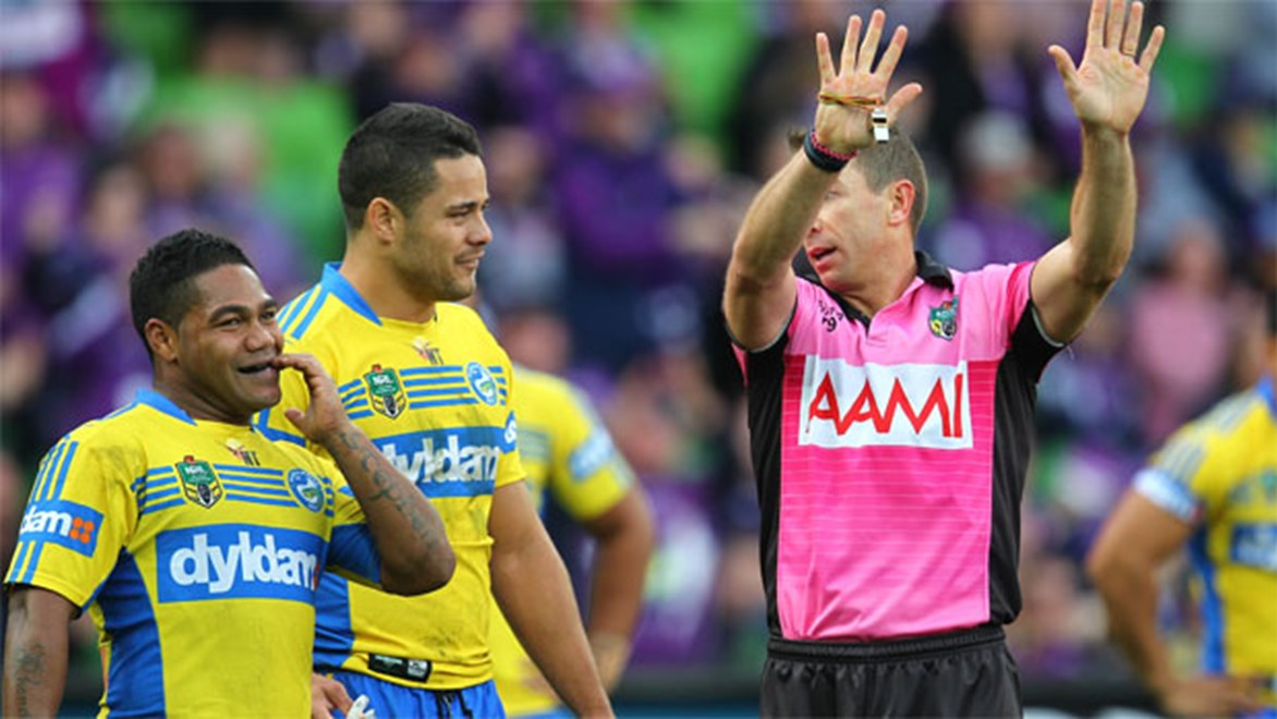 A decision to send Eels half Chris Sandow to the sin bin proved crucial as the Storm piled on the points during his absence.