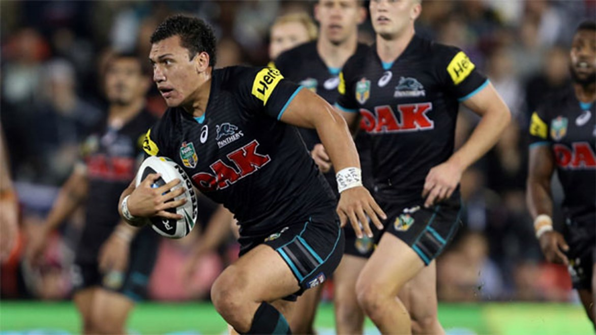 Home coming... Former Warriors forward Elijah Taylor has been a defensive workhorse for Penrith this year.