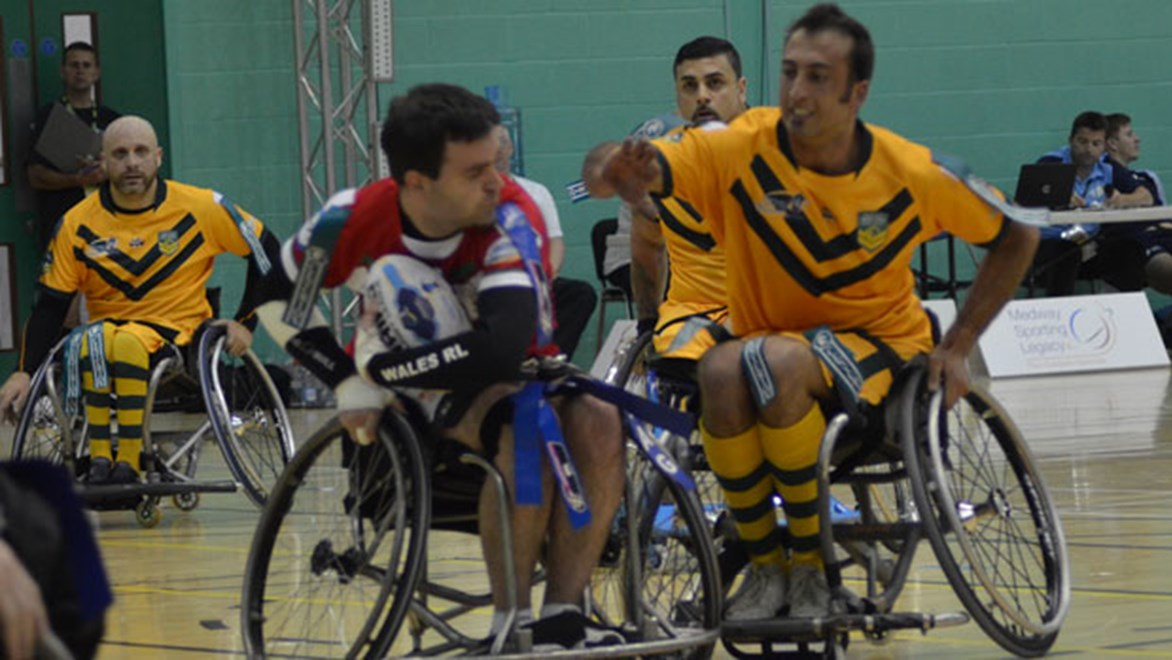 Two Australian Wheelchair Rugby League players will be hosting a clinic in Canberra this Saturday.