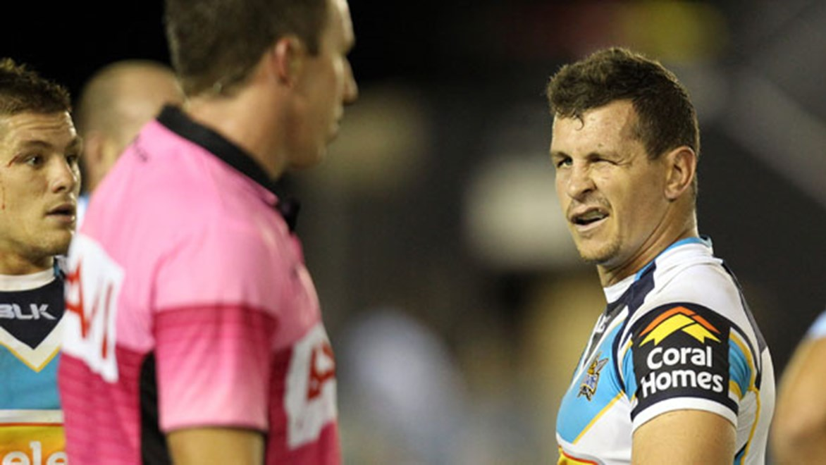 Titans co-captain Greg Bird concedes that players and referees are not seeing eye-to-eye under the new policy of when decisions can be discussed during a game.