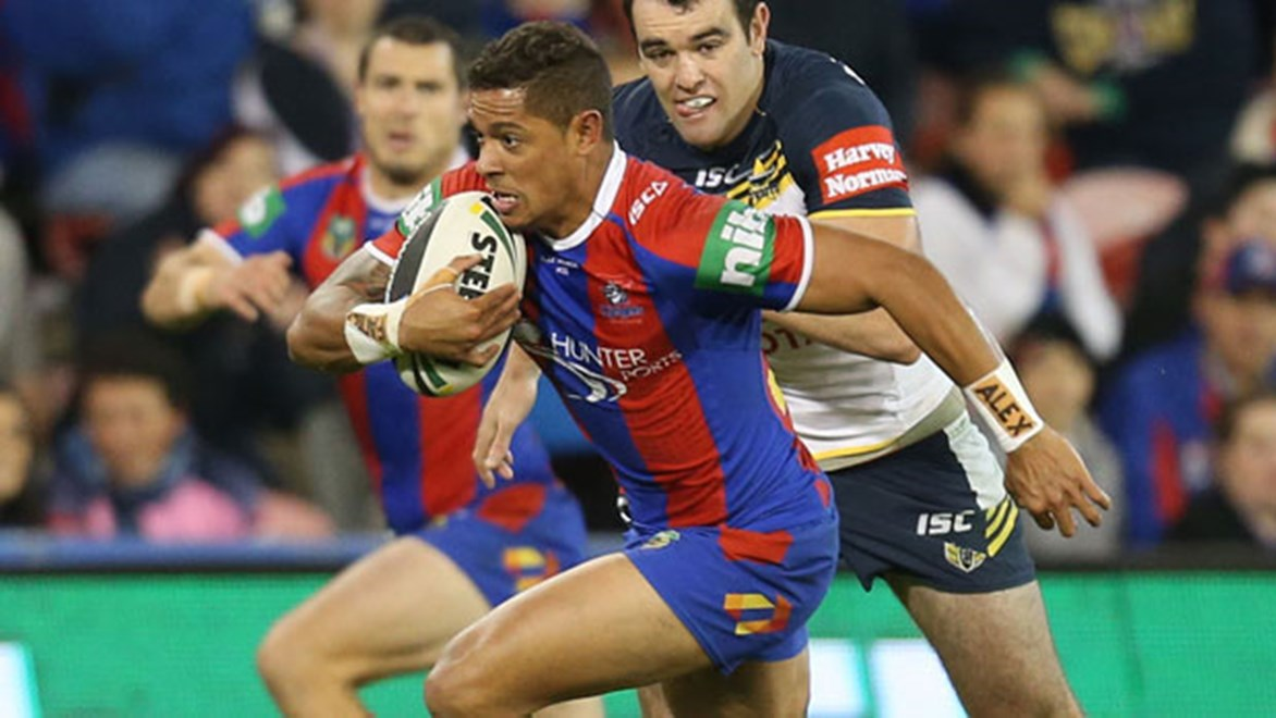 Boom Newcastle Knights centre Dane Gagai has finally found some balance off the field and it's starting to work wonders on it.