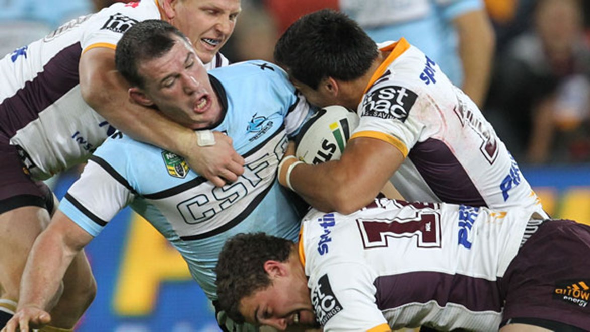 Sharks skipper Paul Gallen was at his inspirational best on Friday night following a tumultuous week for the club.
