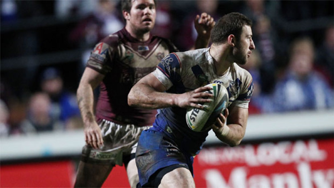Horror show... Bulldogs fullback Mitch Brown was a relieved man after his side's shock win over Manly last Friday night.