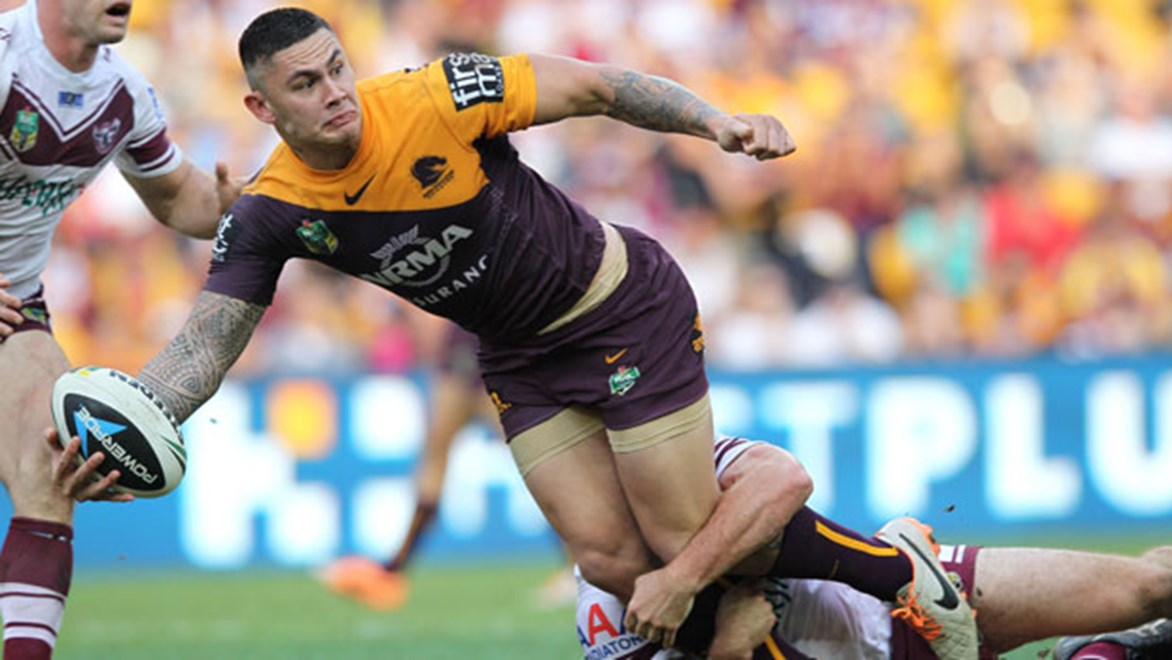 The Brisbane Broncos have stood down Daniel Vidot (pictured), Jack Reed and Corey Oates for their fixture against the Warriors on Saturday night.