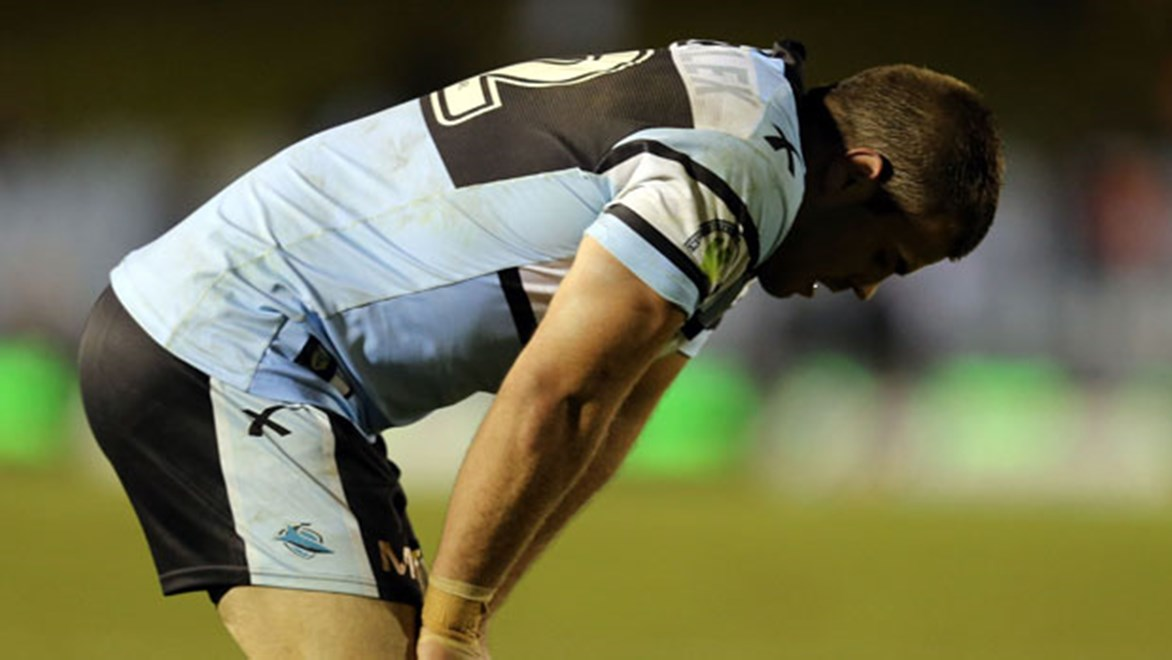 Sharks stand-in captain Wade Graham feels the pain of yet another loss for Cronulla leaving them at the bottom of the ladder.