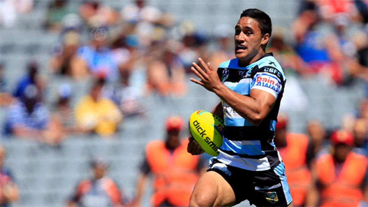 Head of the class... Sharks youngster Valentine Holmes scored consecutive hat tricks in the Holden Cup earlier this year.