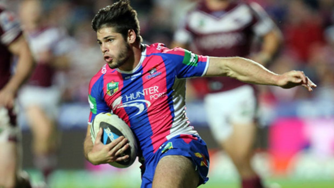 Boom Newcastle Knights winger Jake Mamo has expressed his interest of playing out the rest of the season in first grade following his first win in six attempts in the NRL last weekend.