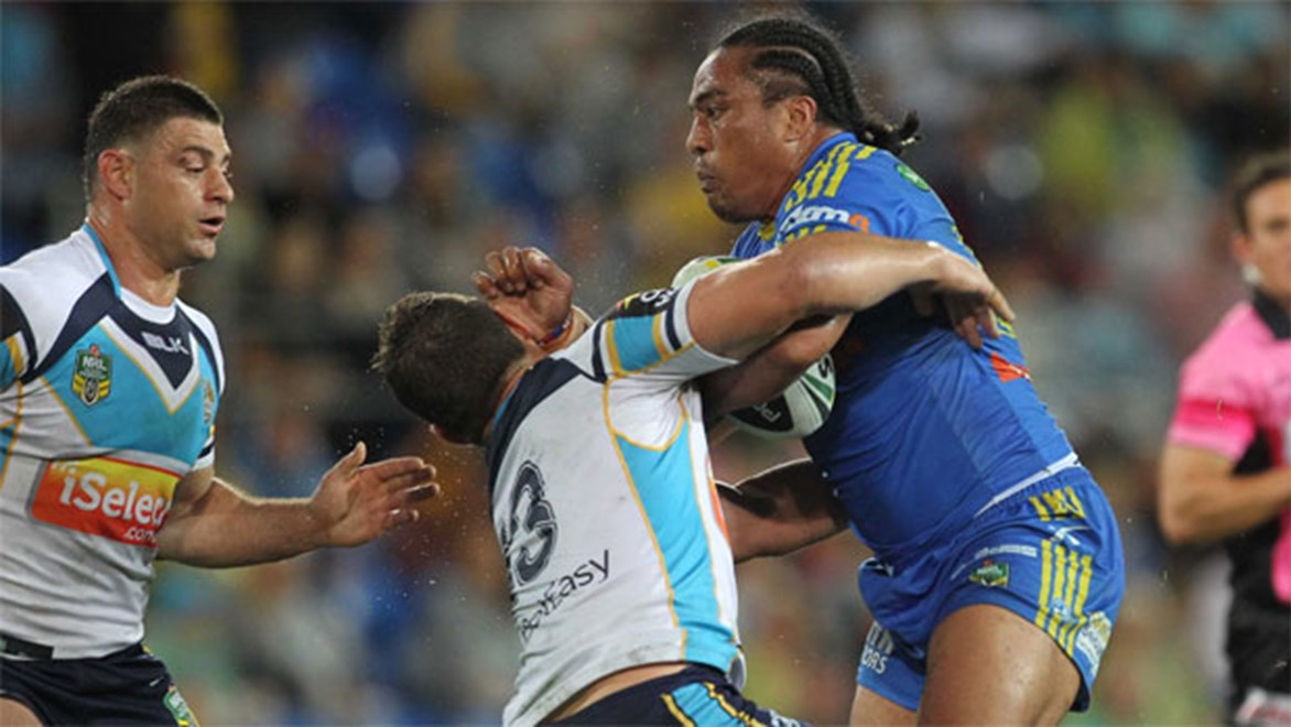 Real impact... Eels prop Fuifui Moimoi has been a huge influence of the club's Polynesian players.