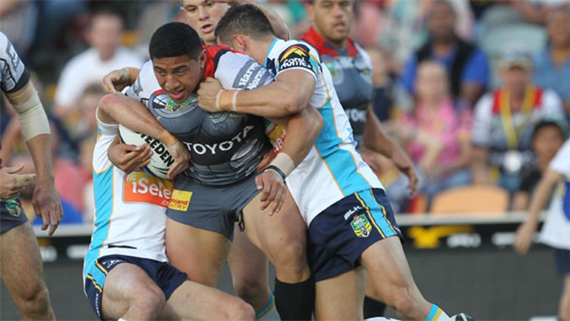 Cowboys forward Jason Taumalolo performed strongly in a win against the Titans.