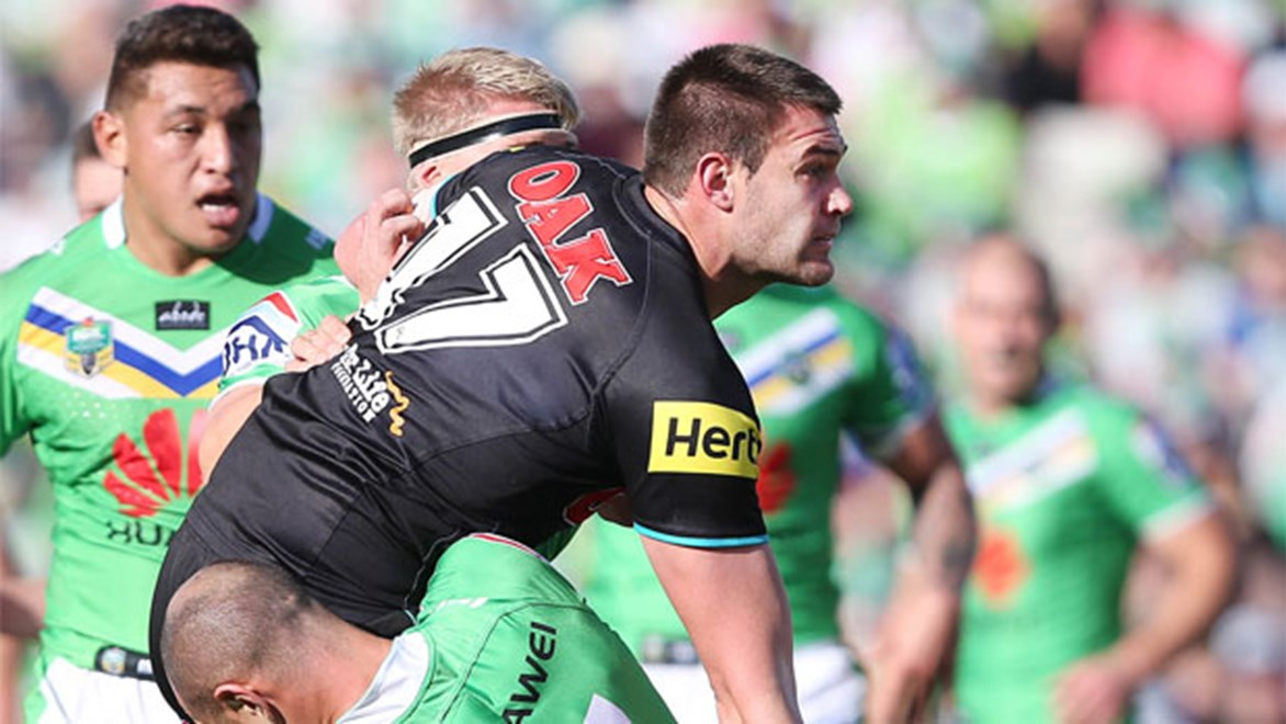 Waiting game... Rabbitohs-bound prop Tim Grant had to wait three months for an NRL recall.