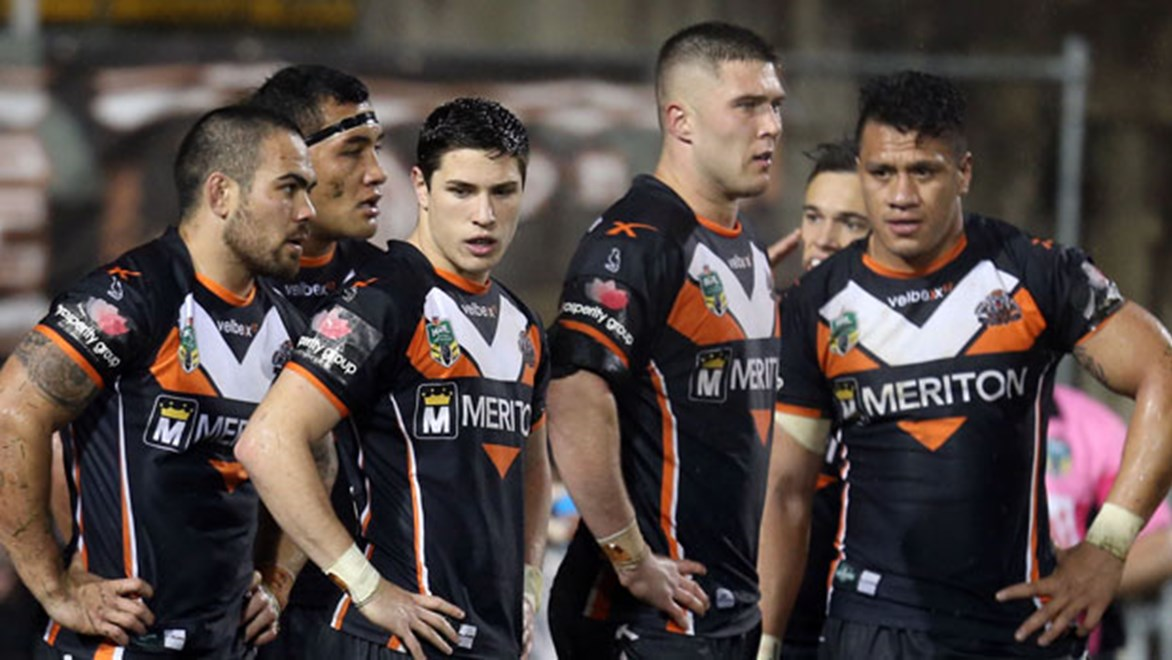 Players were left embarrassed after the injury-ravaged Wests Tigers conceded 40 second half points against the Roosters.