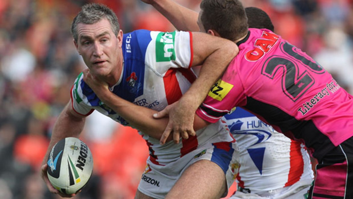The grey hairs may say otherwise but at 29 years of age Chris Houston is eager to extend his career at the Newcastle Knights.