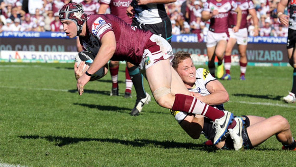 Jamie Buhrer faces a potential season-ending ACL injury after Manly's stunning win over Penrith.