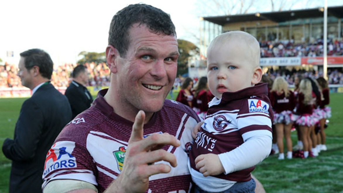Manly prop Jason King will put his family first if the birth of his second child happens to coincide with Grand Final day.