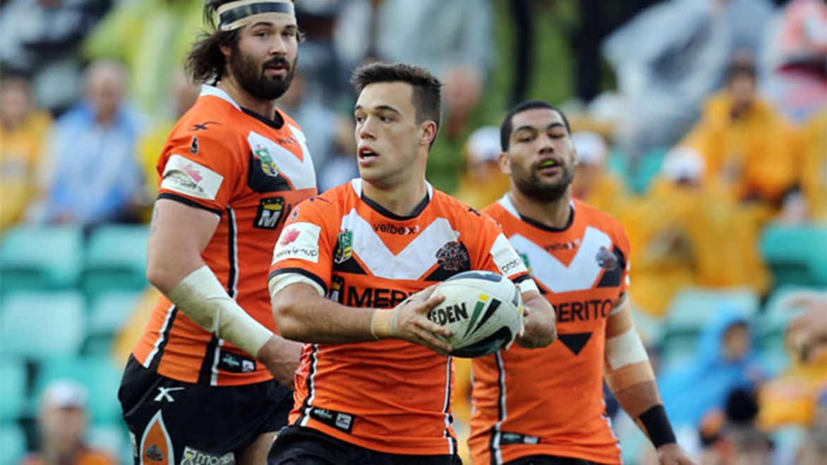 Wests Tigers halfback Luke Brooks made a surprise return from injury in Round 26 against the Sharks.
