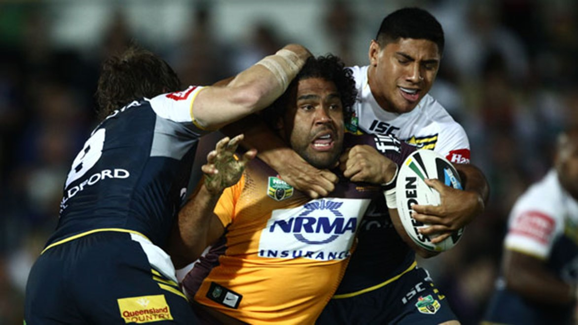 There was no way through the Cowboys defence for Broncos back-rower Sam Thaiday in their Elimination Final on Saturday night.