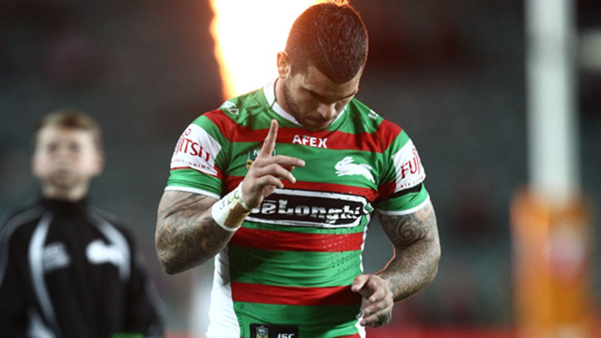 Rabbitohs halfback Adam Reynolds was on fire in his return from suspension in his side's win over Manly.