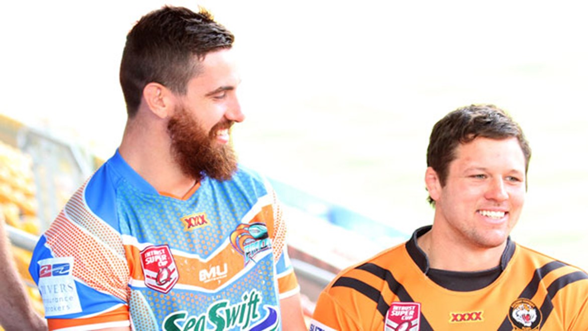 Northern Pride forward Tyrone McCarthy (left) has a chance to leave Australia with a premiership before returning to the English Super League.