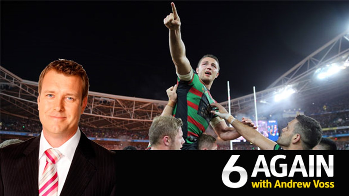 Sam Burgess was at the middle of the turning point of the 2014 NRL Grand Final, according to Andrew Voss.