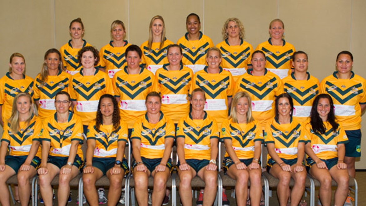Six new faces have been added to the Jillaroos side (pictured) that won the 2013 World Cup.