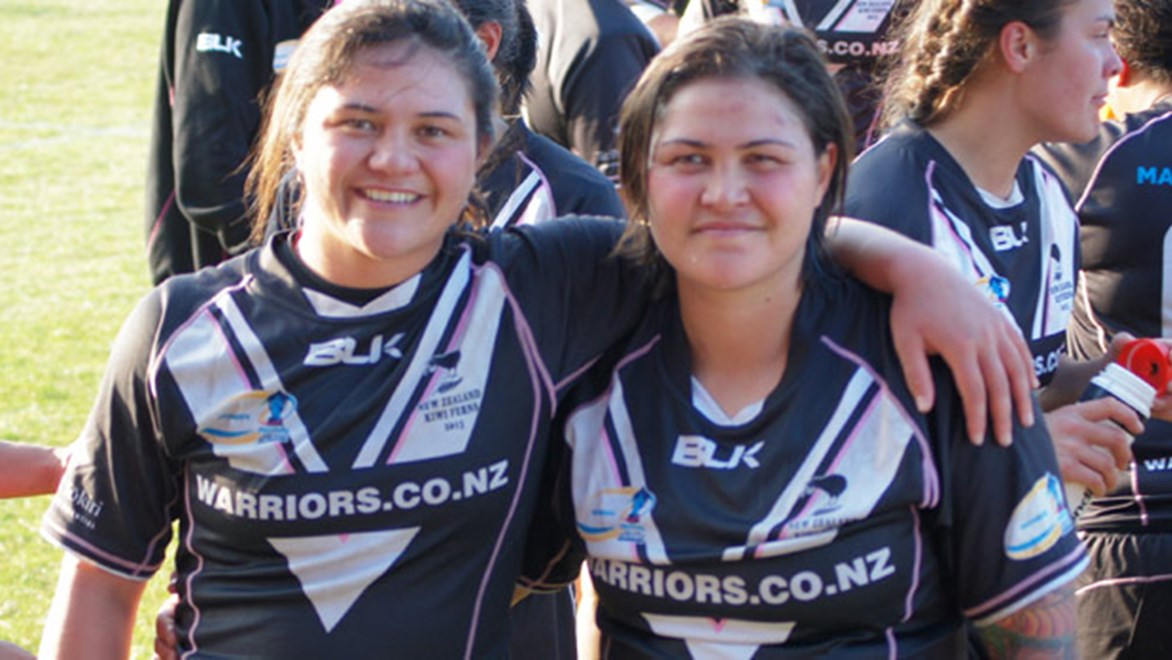 Kahurangi and Rona Peters will be joined by their sister Hilda in the Kiwi Ferns side for the first time this Sunday.