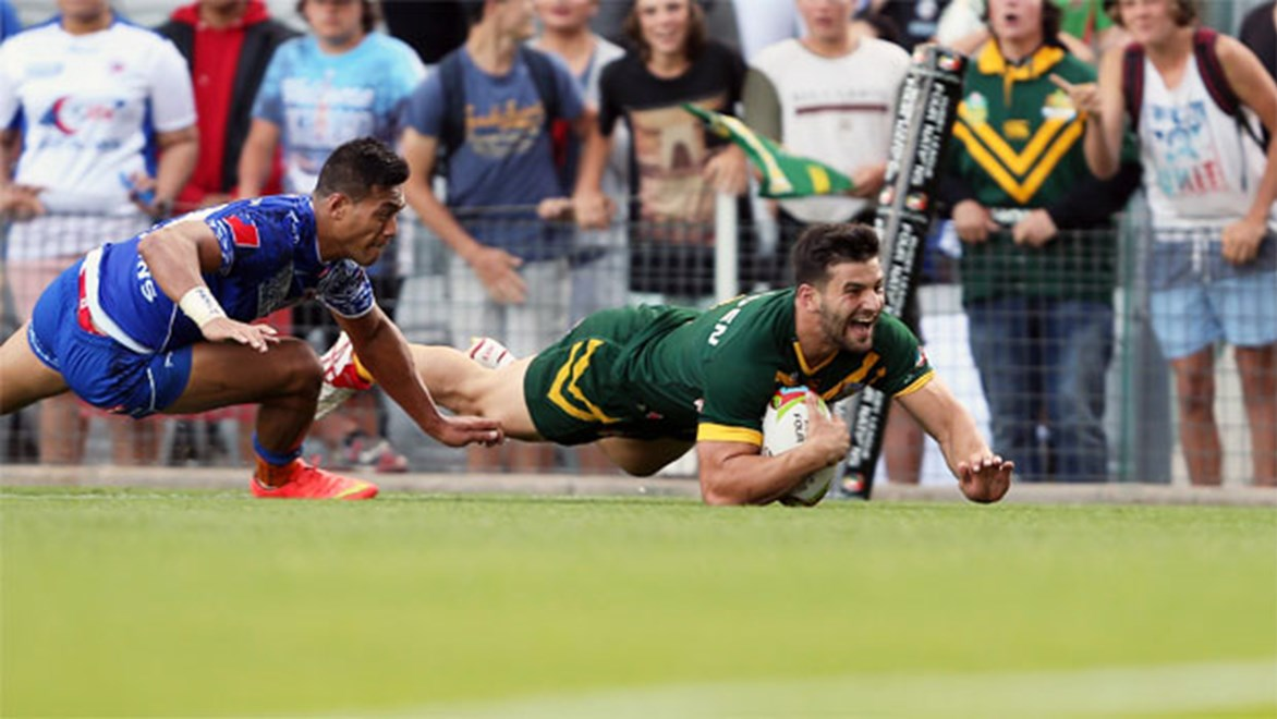 Panthers winger Josh Mansour has been a tackle-busting hero to NRL Fantasy coaches and capped a rapid rise with Kangaroos selection at this year's Four Nations.