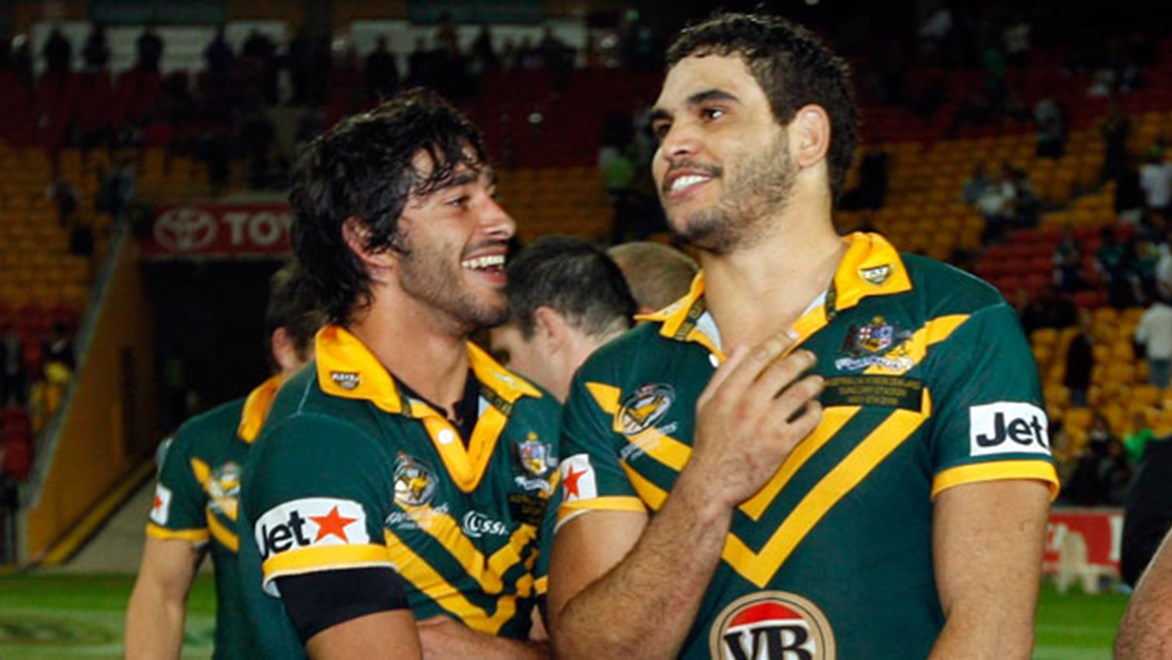 Johnathan Thurston and Greg Inglis have both embraced the positive change they can make through their influence on young people.