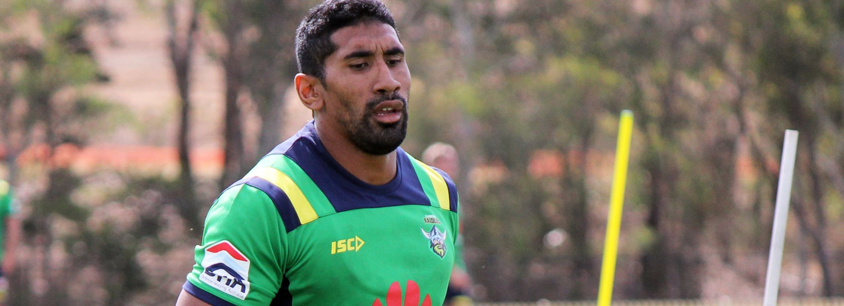 New recruit Sia Soliola at Canberra Raiders pre-season training.