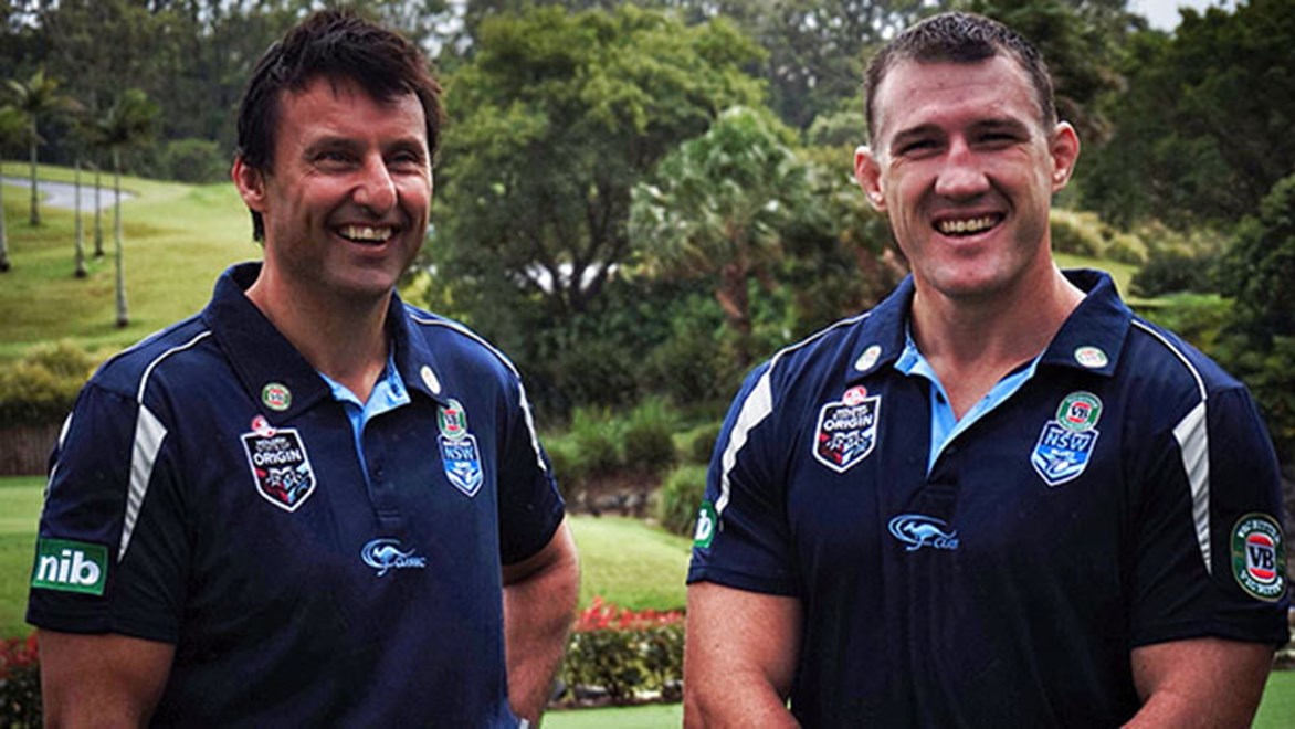 Laurie Daley and Paul Gallen announce extension of Blues partnership with the Coffs Harbour.