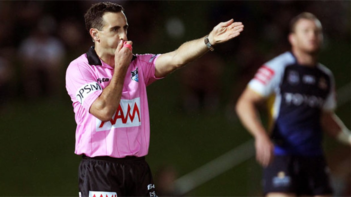 NRL referee Gerard Sutton.
