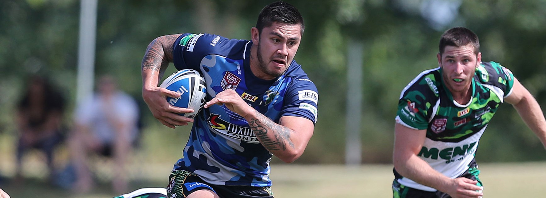 Daniel Vidot in action for Ipswich against Townsville Blackhawks on Sunday.