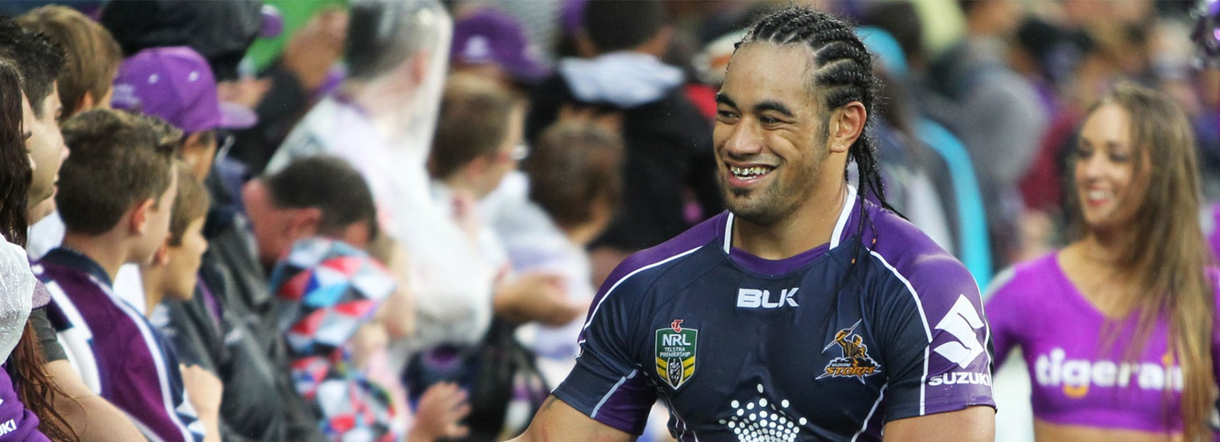 Mahe Fonua became the first Victorian to play for the Melbourne Storm in 2012.