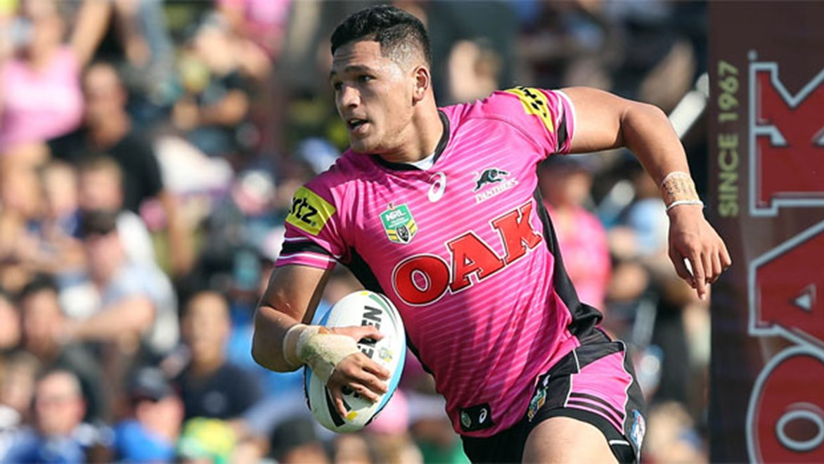 Panthers and New Zealand speedster Dallin Watene-Zelezniak.