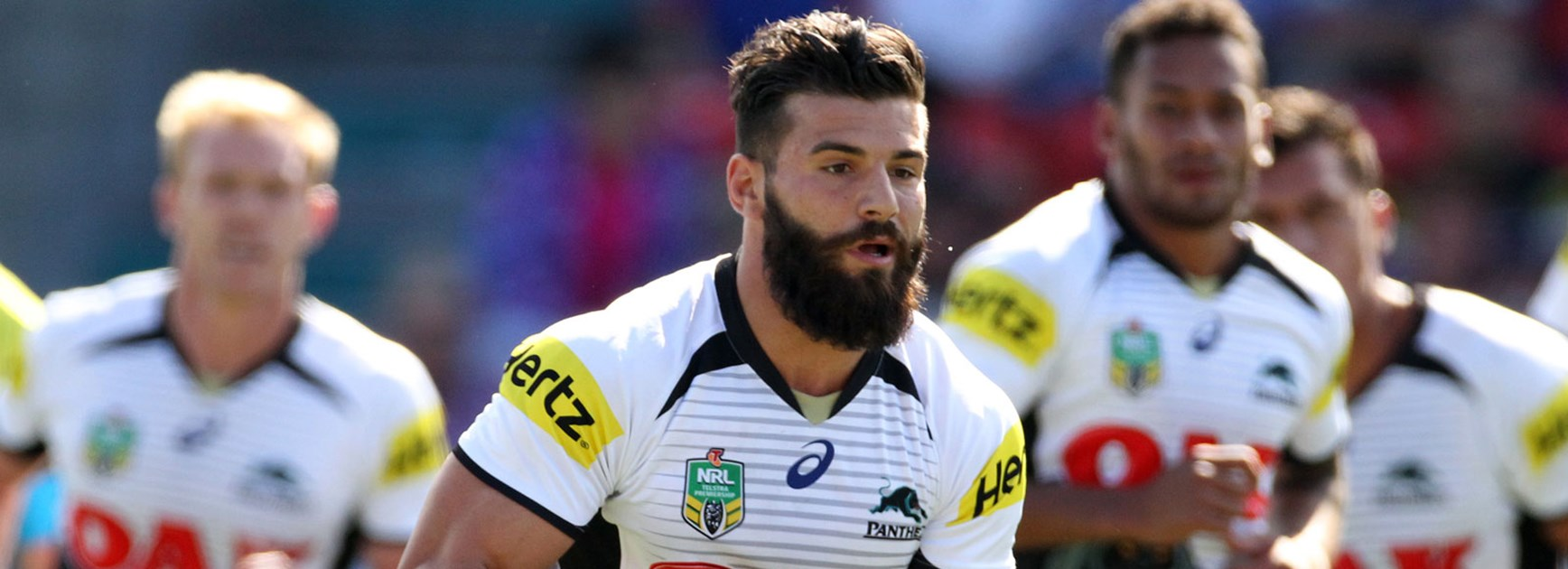 Josh Mansour during the Panthers' Round 4 meeting with the Knights.