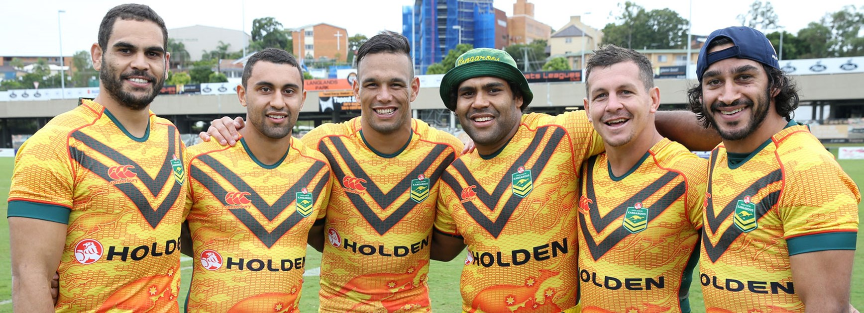 Australia's record Indigenous representation of Greg Inglis, Alex Johnston, Will Chambers, Sam Thaiday, Greg Bird and Johnathan Thurston.